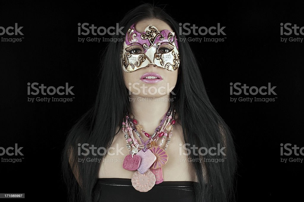 Beautiful Masked Lady royalty-free stock photo