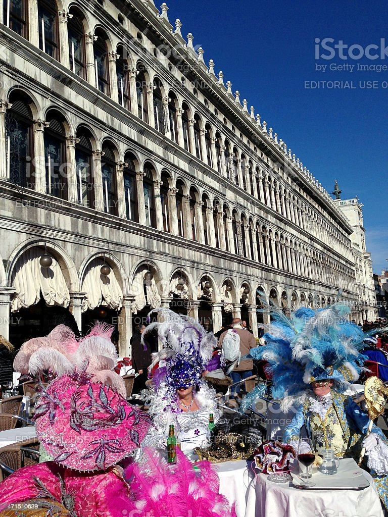 Beautiful Masks in San Marco Square Venice Italy royalty-free stock photo