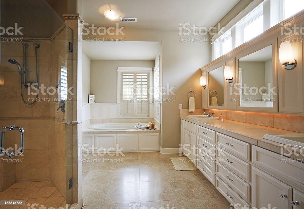 Beautiful Master Bathroom royalty-free stock photo
