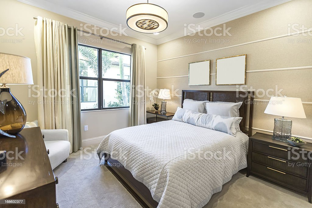 beautiful master bedroom interior royalty-free stock photo