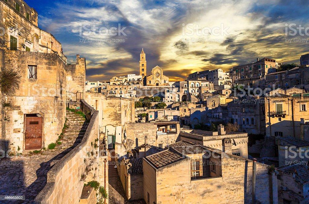 Beautiful Matera,Italy stock photo