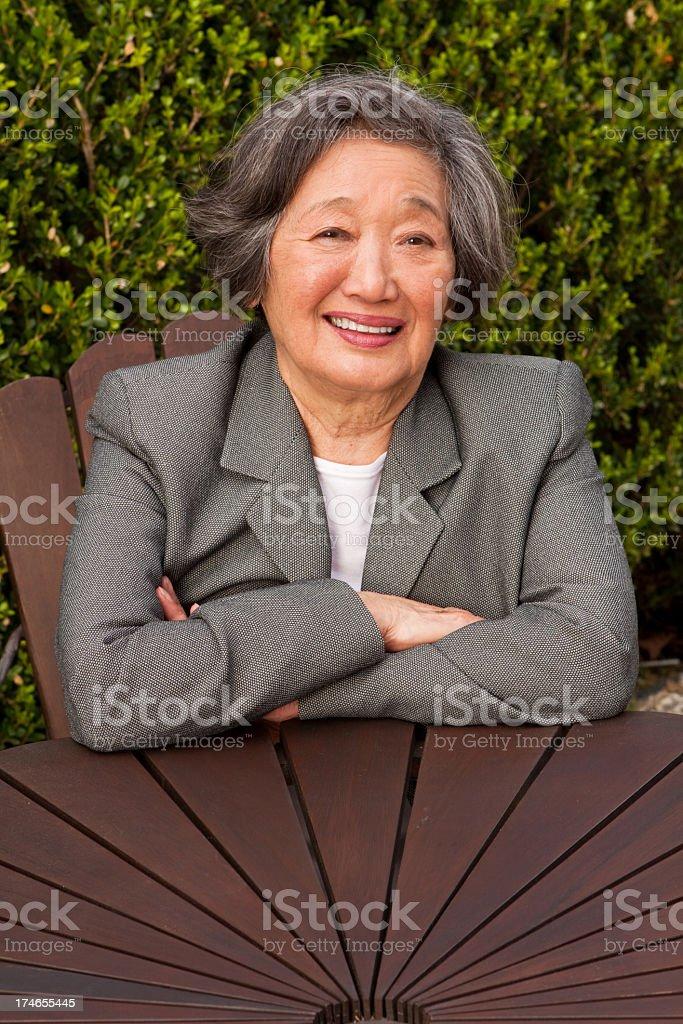 Beautiful  Mature Asian Woman stock photo