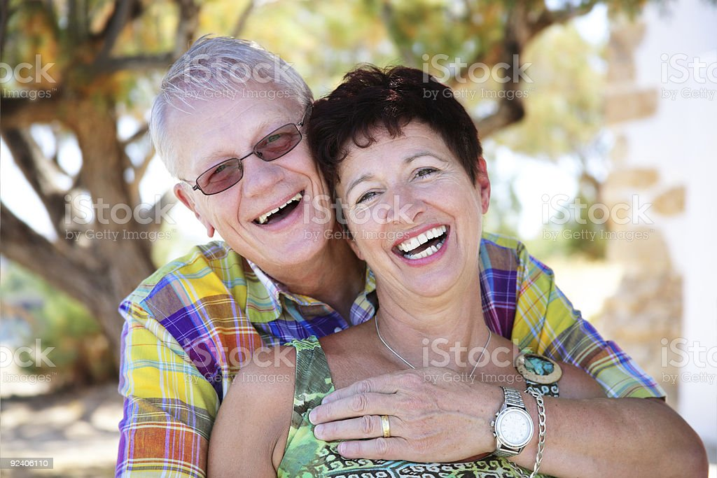 beautiful mature couple in love royalty-free stock photo