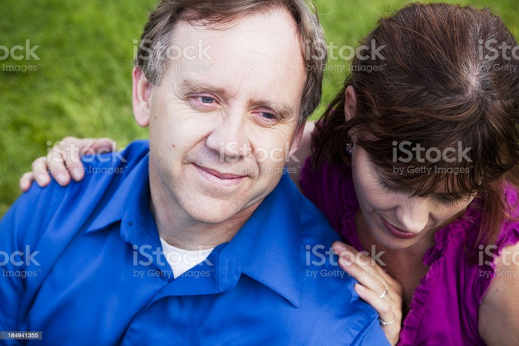 Beautiful Mature Couple Outside stock photo