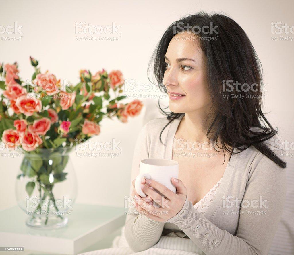 Beautiful mature woman. royalty-free stock photo
