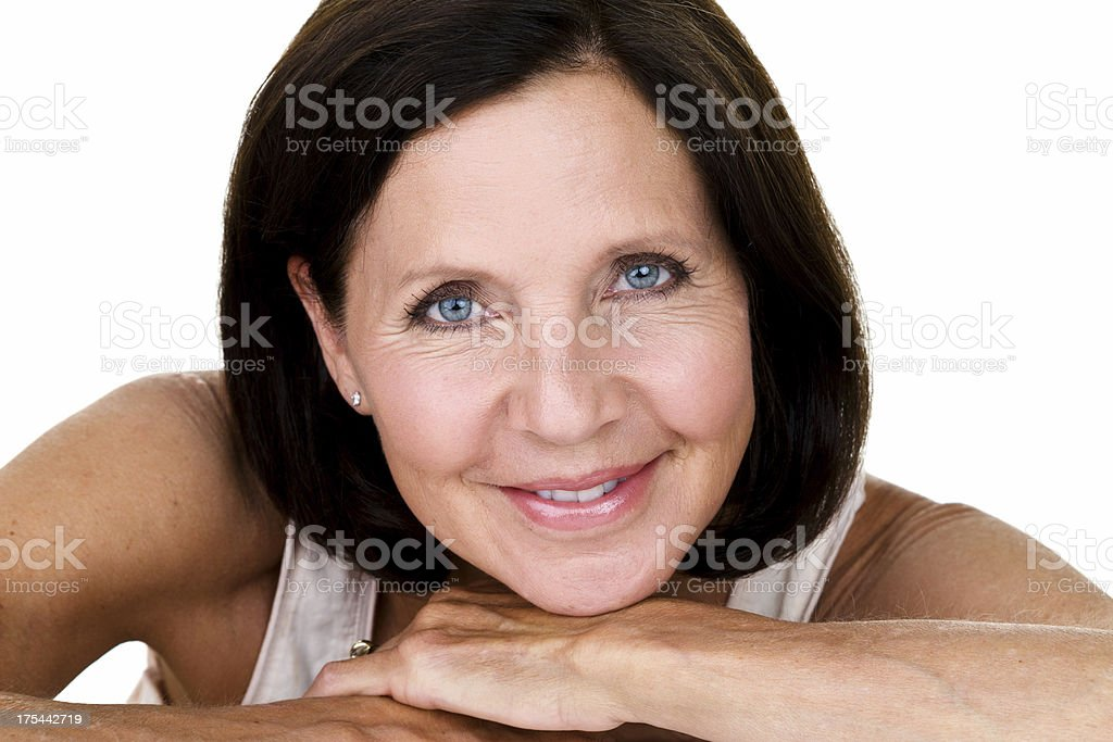 Beautiful mature woman royalty-free stock photo