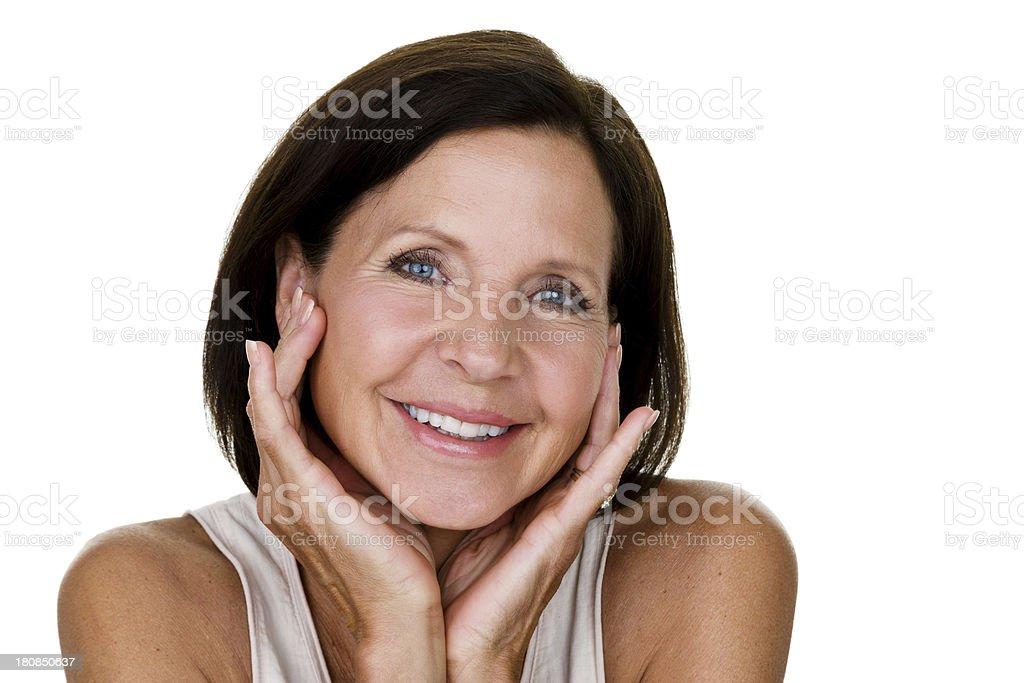 Beautiful mature woman royalty-free stock photo