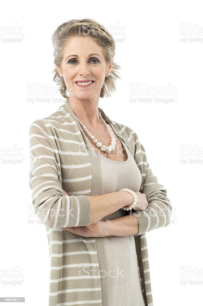 Beautiful Mature Woman stock photo