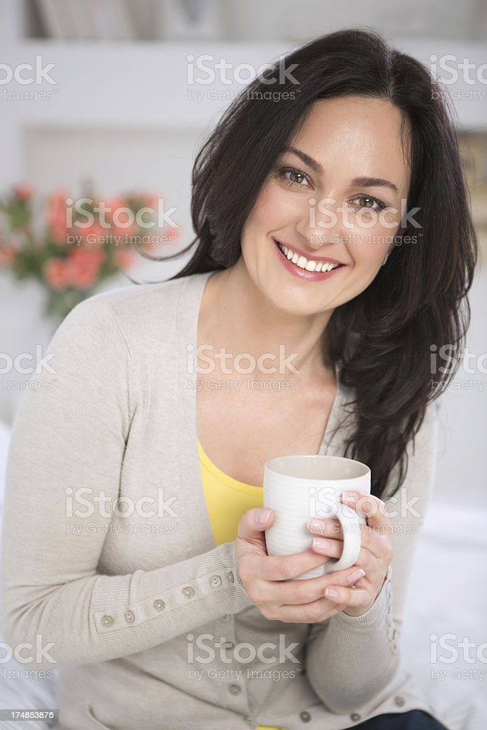Beautiful mature woman smiling at camera. royalty-free stock photo