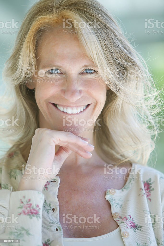 Beautiful Mature Woman Smiling royalty-free stock photo