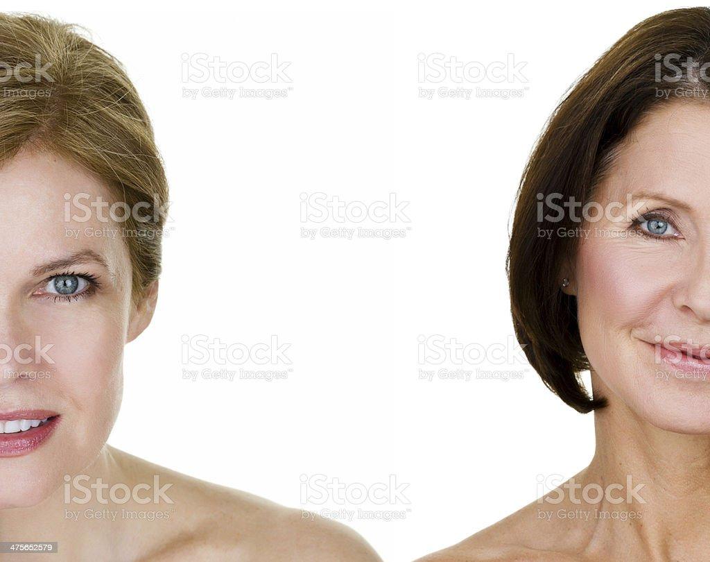 Beautiful mature women stock photo