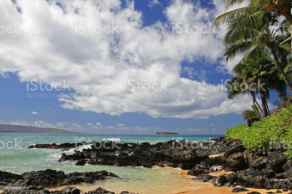 Beautiful Maui Beach and Sky royalty-free stock photo