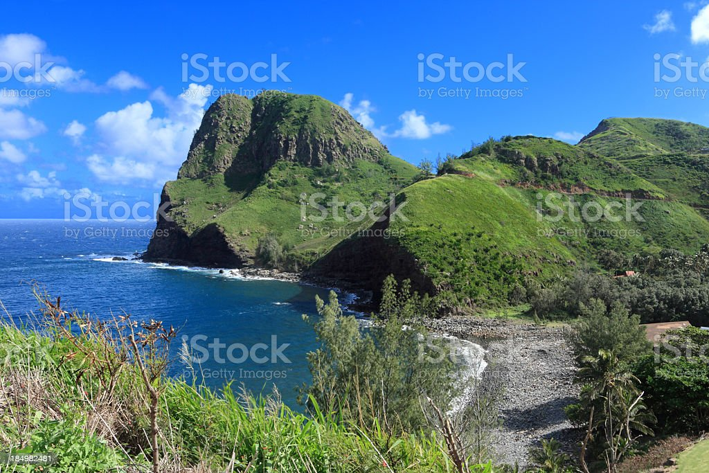 Beautiful Maui landscape stock photo