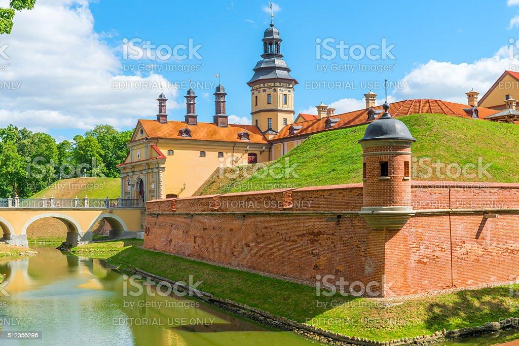 beautiful medieval castle stock photo
