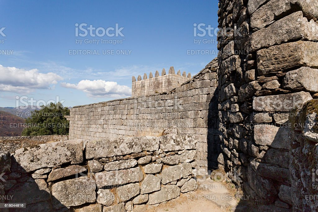 Lindoso Medieval Castle stock photo