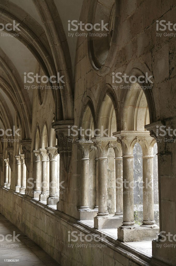 Beautiful medieval Monastery of Alcobaca in central Portugal royalty-free stock photo