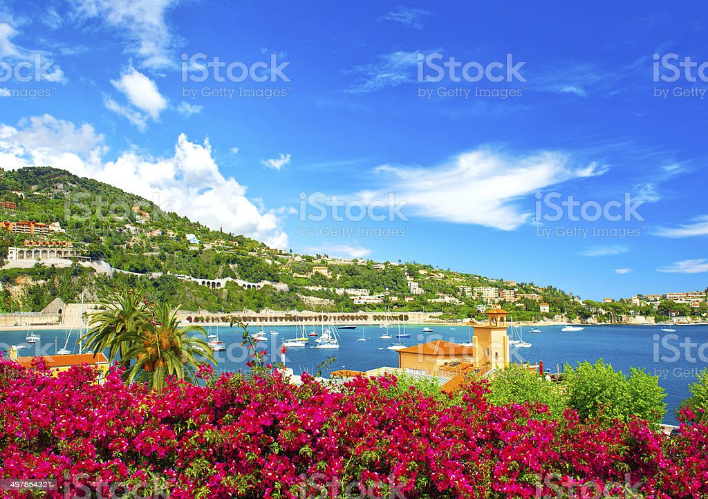 Beautiful Mediterranean Sea landscape. French riviera stock photo
