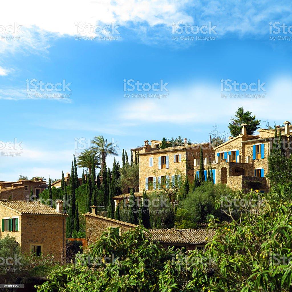 beautiful mediterranean village stock photo