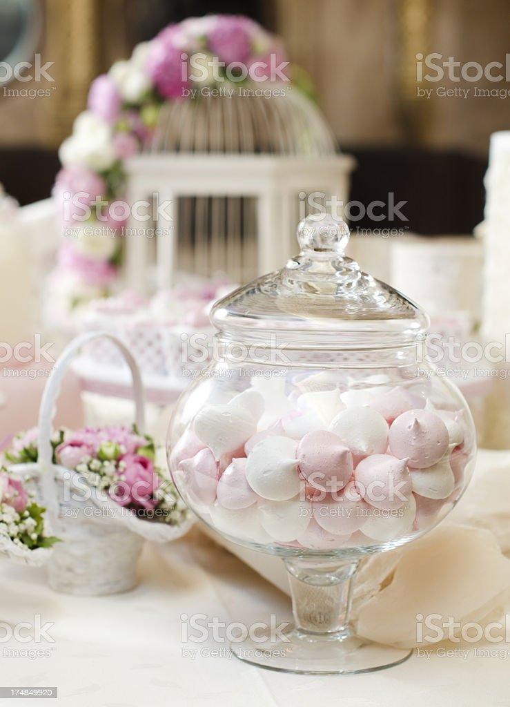 Beautiful meringues arrangement royalty-free stock photo