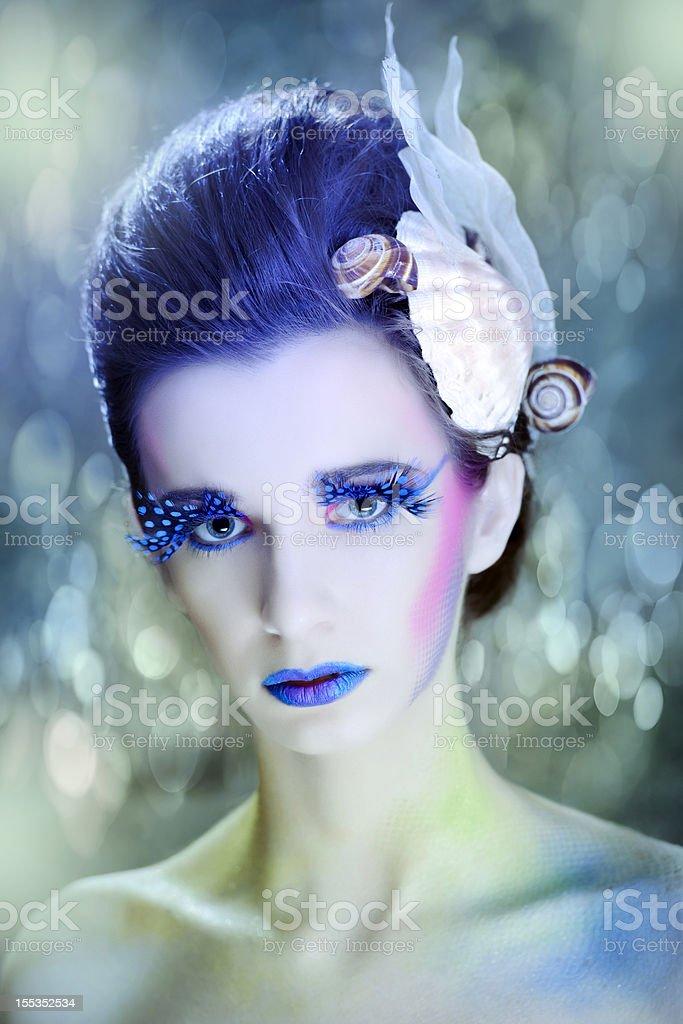 beautiful mermaid stock photo
