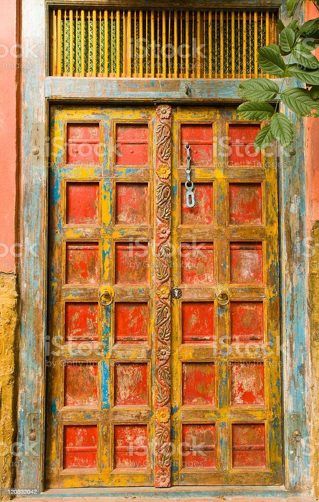 Beautiful mexican door stock photo