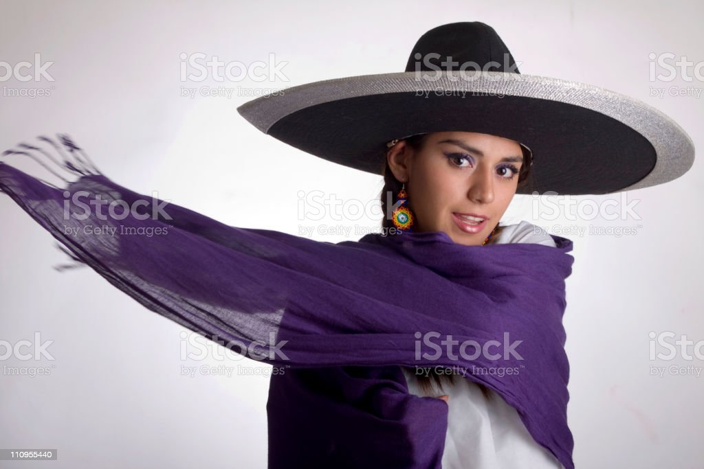 Beautiful mexican girl stock photo