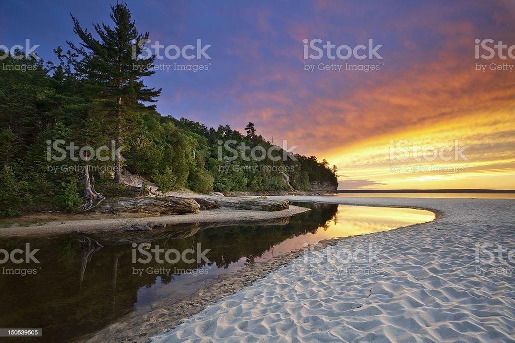 Beautiful Michigan Landscape. stock photo