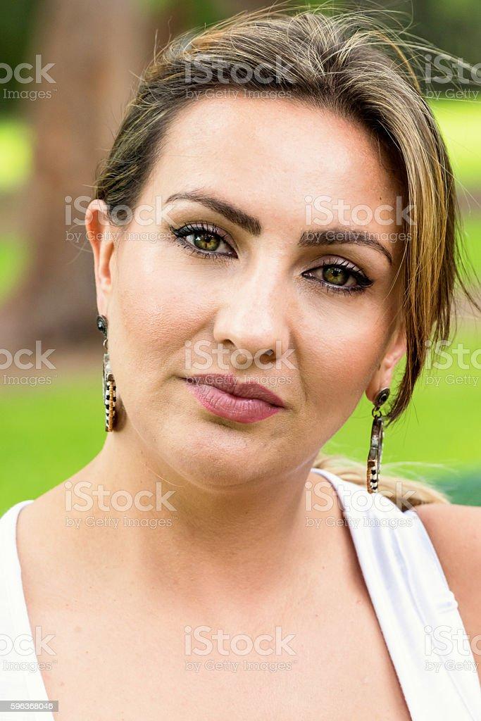 Beautiful mid adult woman stock photo