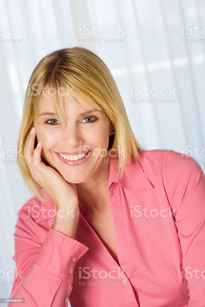 Beautiful mid adult woman portrait royalty-free stock photo
