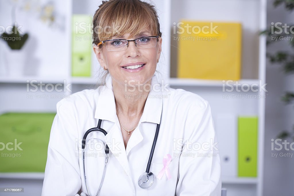 Beautiful  mid age female doctor royalty-free stock photo