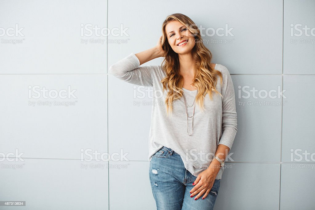 Beautiful mid-age woman. stock photo