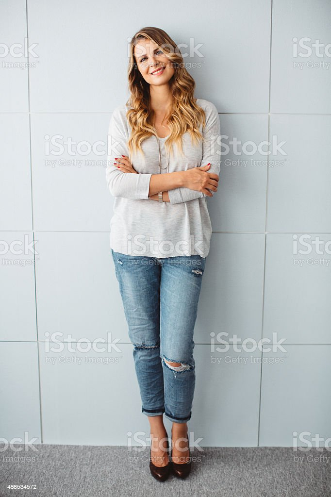 Beautiful mid-age woman. stock photo