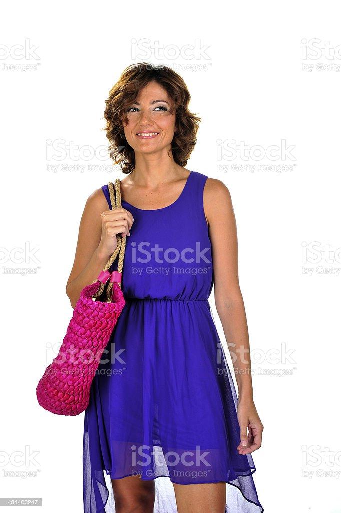 아름다운 중간 노인 여성 royalty-free 스톡 사진