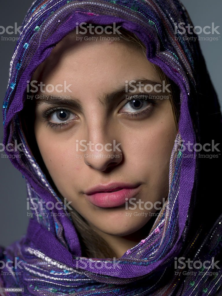 Beautiful middle eastern girl royalty-free stock photo