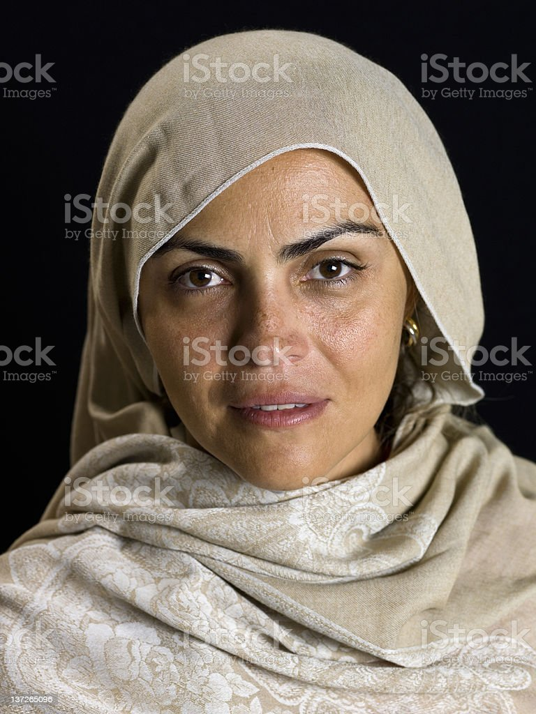 Beautiful Middle Eastern Mature Woman (no make up) royalty-free stock photo
