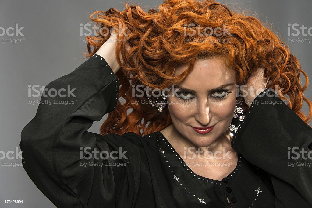 Beautiful Middle Eastern Red head Woman stock photo