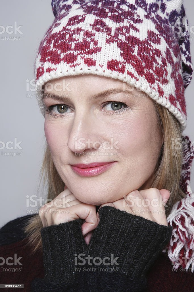 Beautiful middle-aged woman royalty-free stock photo