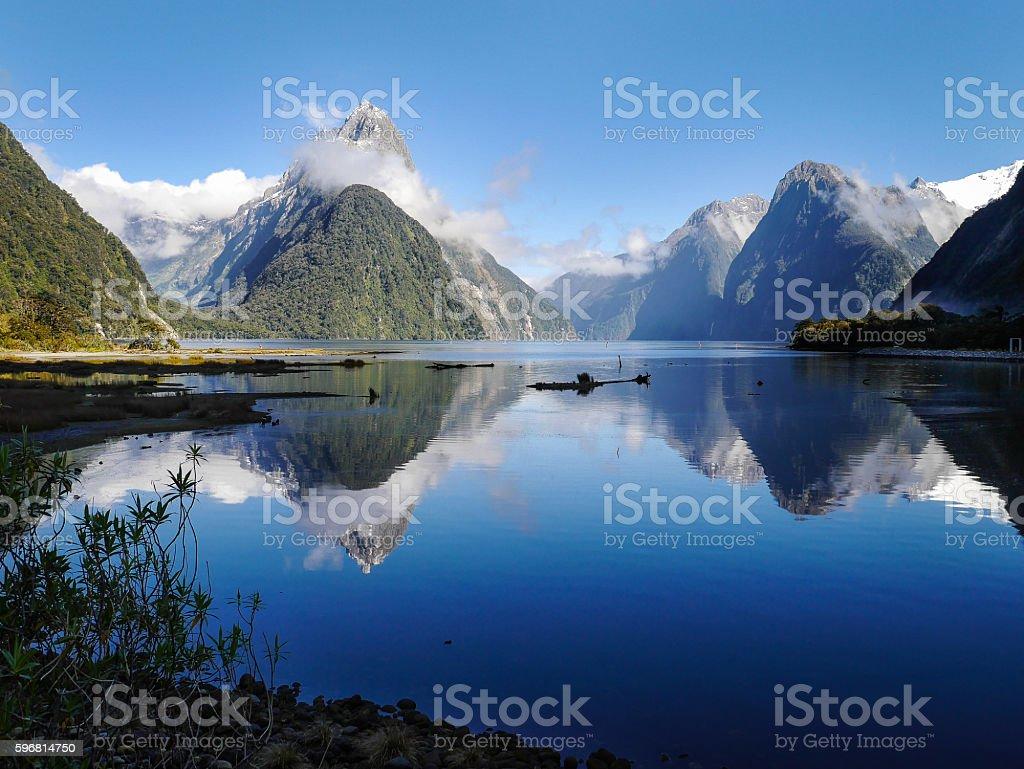 Beautiful Milford Sound stock photo
