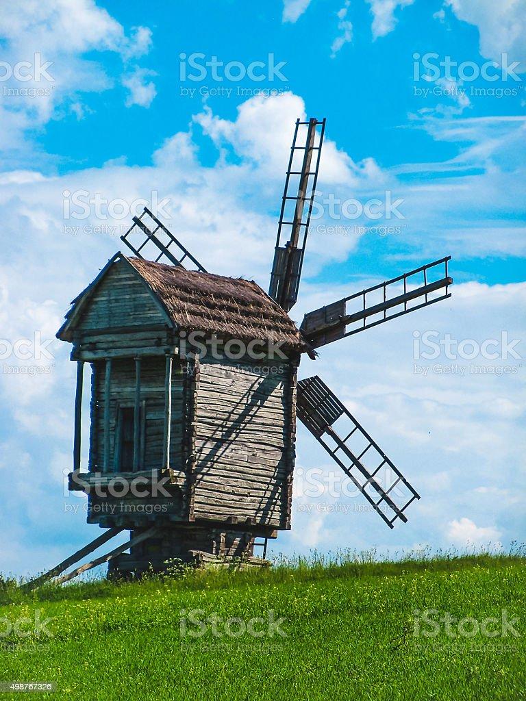 Beautiful mill stock photo