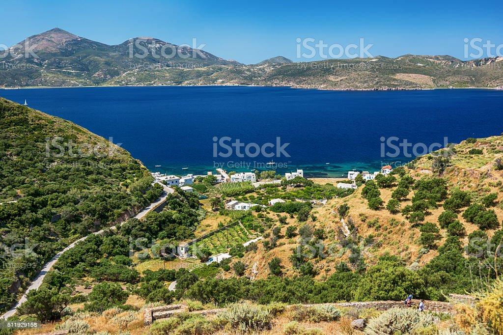Beautiful Milos Landscape stock photo