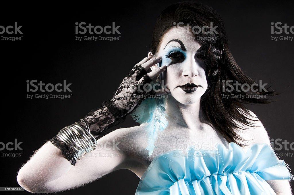 beautiful mime royalty-free stock photo