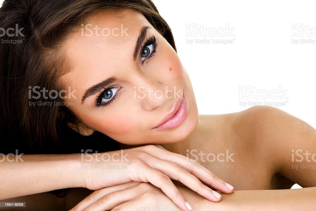 Beautiful mixed race woman royalty-free stock photo