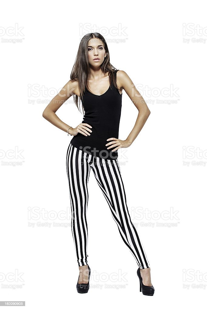 Beautiful model posing on white 2 royalty-free stock photo