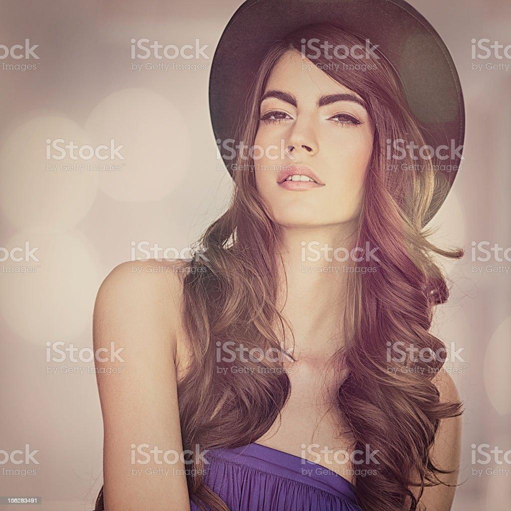 Beautiful Model Posing stock photo