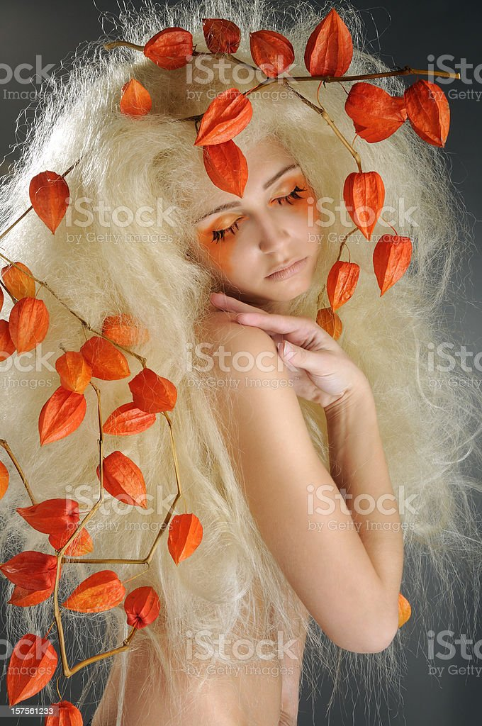 Beautiful Model With A Creative Hairstyle royalty-free stock photo