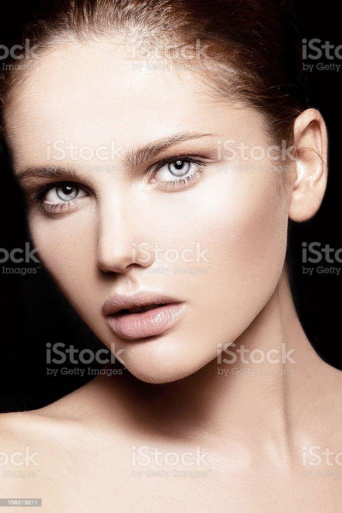 beautiful model with natural make-up royalty-free stock photo