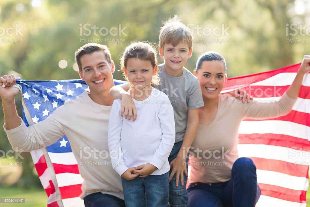 beautiful modern american family stock photo