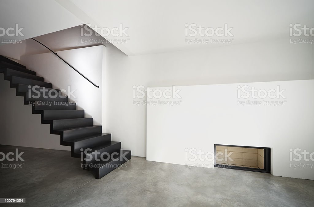 beautiful modern apartment, loft duplex royalty-free stock photo