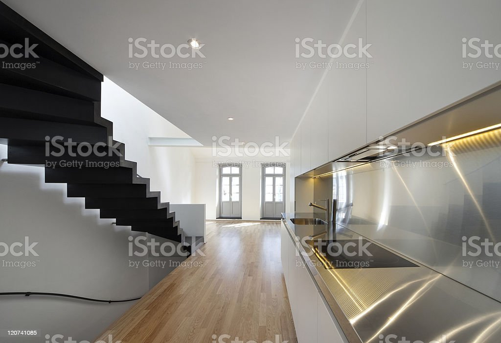 beautiful modern apartment royalty-free stock photo