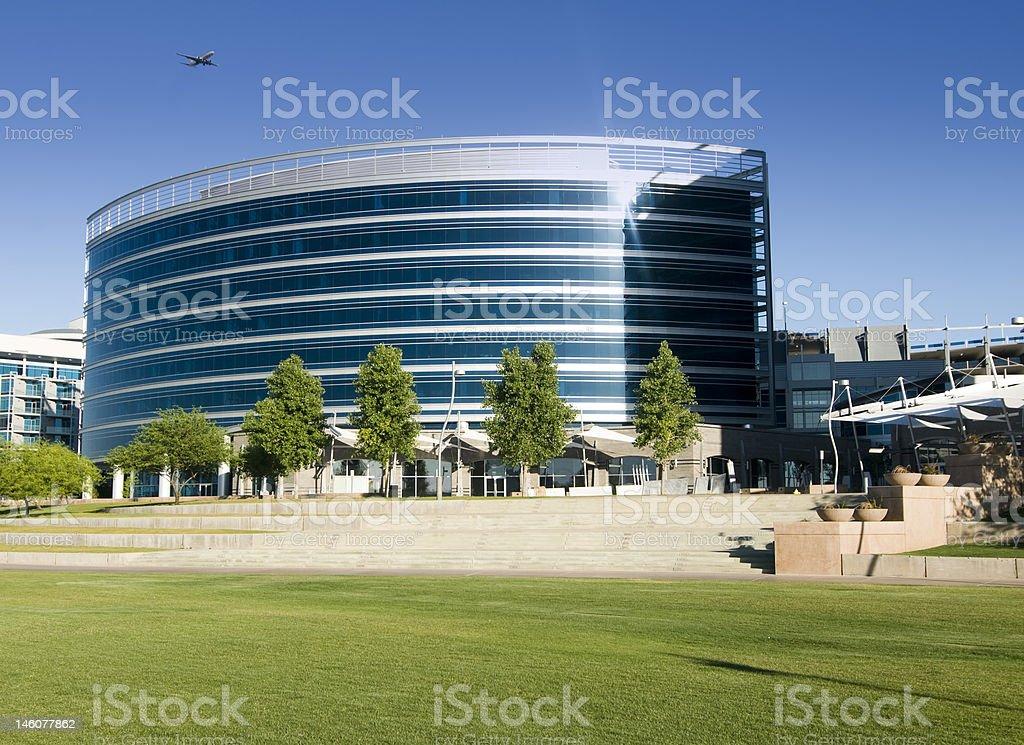Beautiful modern architecture in Tempe Arizona royalty-free stock photo